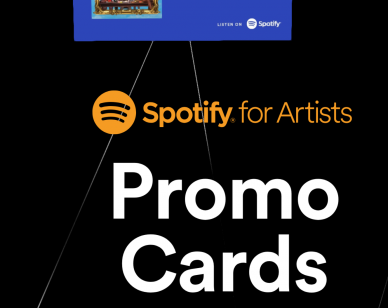 Spotify Promo Cards to customize your streaming promotion - Beatrising Distribution